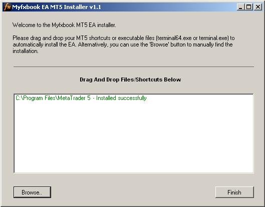 Myfxbook MT5EA Installer